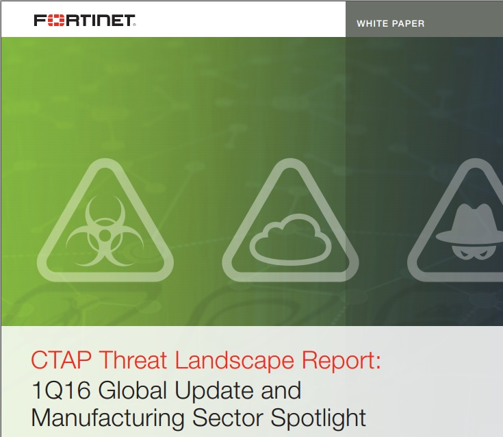 CTAP Threat Landscape Report: 1Q16 Global Update and Manufacturing Sector Spotlight
